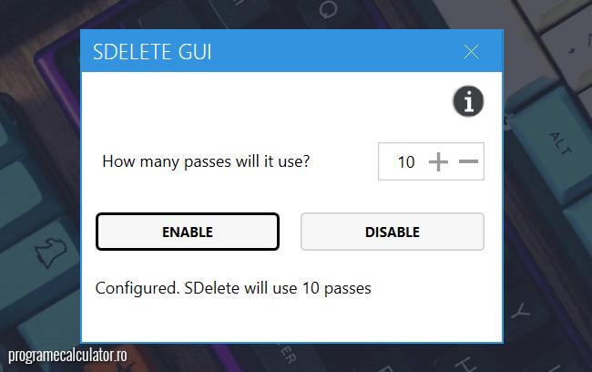 SDelete GUI pentru Windows